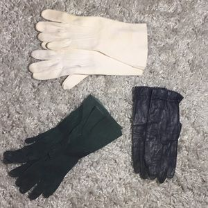 Set of 3 vintage gloves from 50s